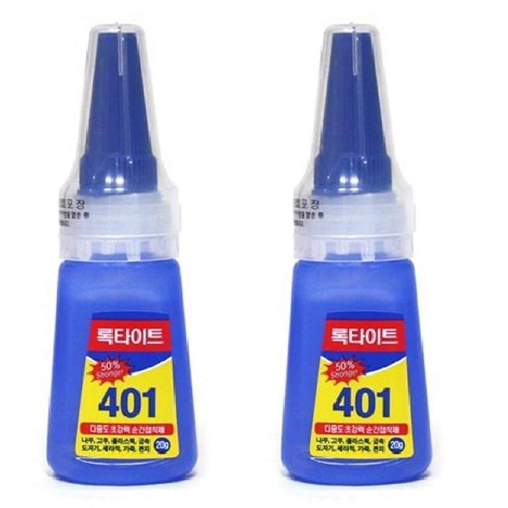 2-Pack Henkel Loctite 401 Multi Purpose Liquid Cyanocrylate Instant Adhesive Super Glue 20g Bottle (2-Pack)