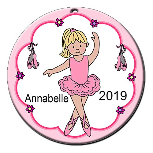 Mandy's Moon Personalized Gifts Ballerina Ornament - Blonde Haired Girl