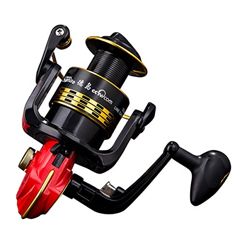RGTOPONE [6BB All-Metal Saltwater Spinning Reel] Professional Outdoor Sport Metal Strong Corrosion Resistance Fishing Reels Left/Right Bearing High Speed Spinning Reel Gear for Fishing Enthusiasts