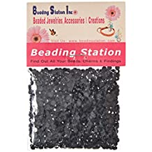 Beading Station 1440-Piece Flat Back Brilliant 14-Cut Round Rhinestones, 3mm-10ss, Jet Black