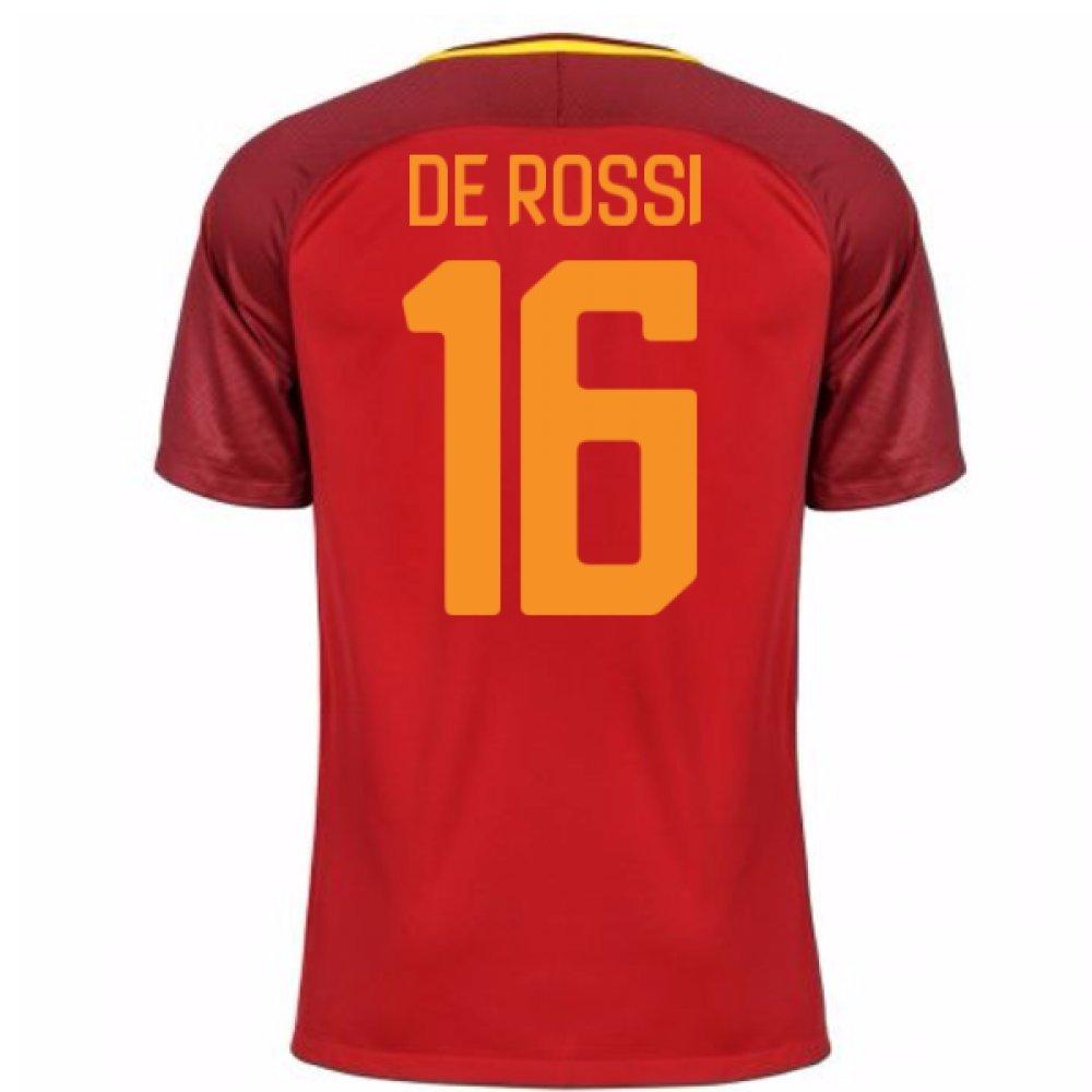 2017-18 Roma Home Football Soccer T-Shirt Trikot (Daniele De Rossi 16)