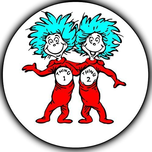 Dr Seuss Thing 1 Thing 2 Edible Image Photo Cake Topper Sheet Personalized Custom Customized Birthday Party - 8