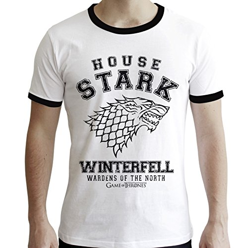 Abystyle Game Homme Of House Stark Tshirt Thrones rrfnSdq