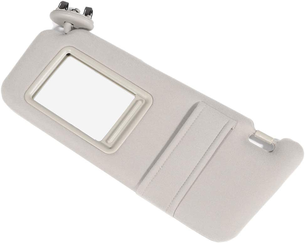 AUTOMUTO fit for Toyota Camry 2006-2011 Beige Left Driver Side Sun Visor Assembly Windshield Sun Visor Mirror