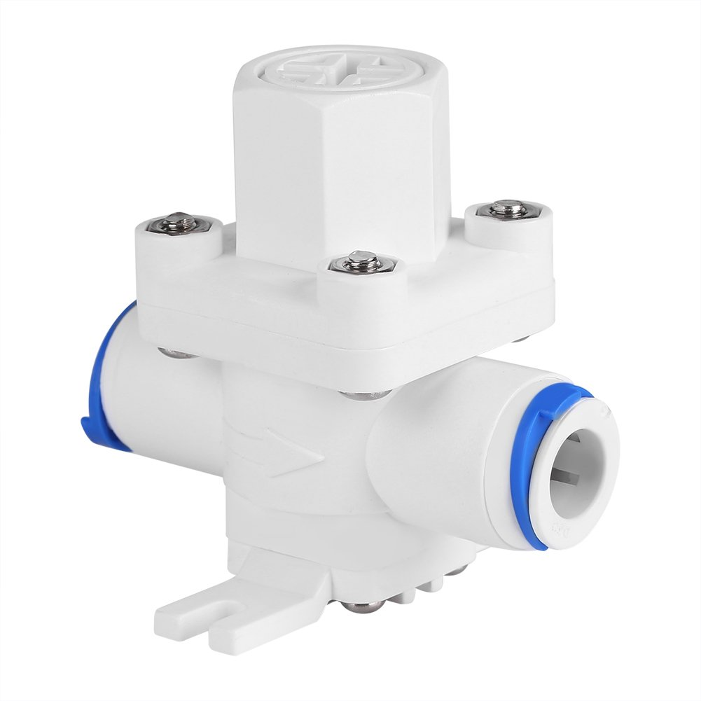 Asixx Pressure Reducing Valve, 3/8 Inch Plastic Water Pressure Relief Regulator Reducing Valve with Filter Protection for RO Water System