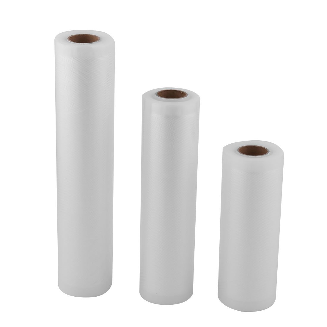 uxcell PVC Kitchen Food Saver Fruit Vegetable Storage Bag Vacuum Roll 3 in 1 White