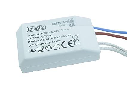 Takestop Transformateur Electronique Et60sn Pour Lampe Halogene 10