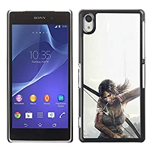 A-type Arte & diseño plástico duro Fundas Cover Cubre Hard Case Cover para Sony Xperia Z2 (T0Mb Raider - Lara Cr0Ft)