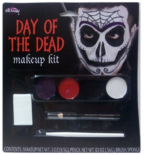 Day Of The Dead Male Makeup Kit (Day of the Dead Makeup Kit - (Skull Male))