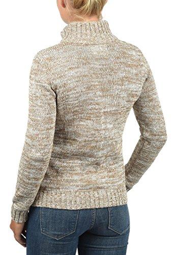 01638b02a7 DESIRES Phenix Damen Lange Strickjacke Cardigan Grobstrick Longstrickjacke  mit Reißverschluss und Stehkragen: Amazon.de: Bekleidung