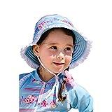 Sun Emporium Girls Sky Blue Pink Reversible Brim Frill Hat S