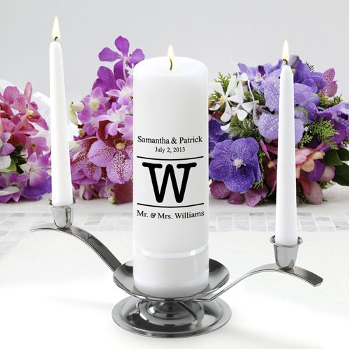 Personalized Wedding Unity Candle - Personalized Unity Candle Set - Alexander JDS GC330 MG8