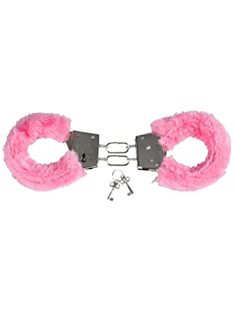 Amazon Com Sexy Valentines Day Pink Fuzzy Furry Lovers Handcuffs