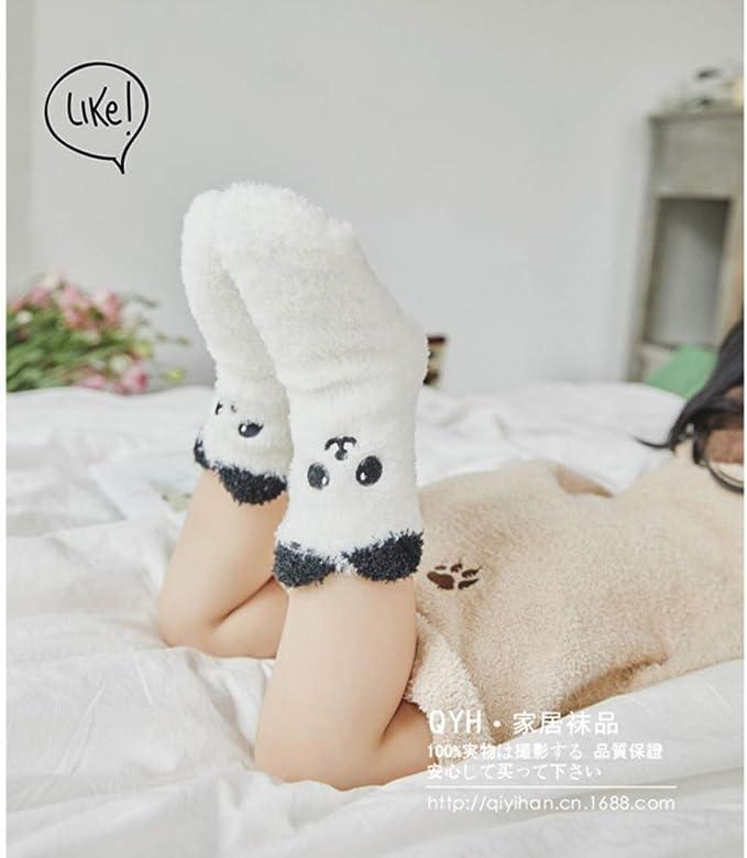 Baby Socks Fuzzy Thick Floor Socks Anti Slip Skid Cartoon Animal Socks Without Heel 0-100 Years