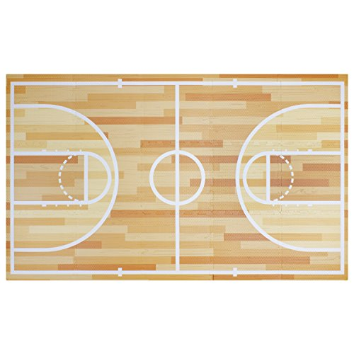 All-Star Basketball Foam Play Mat | Safe Kids Puzzle Playmat Non-Toxic Interlocking Floor Children & Baby Room Soft EVA Thick Color Flooring Square Babies Toddler Infant Exercise Area Carpet