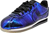 Nike Womens Classic Cortez Leather Shoes Metalic Blue Soar Deal (Small Image)