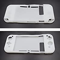Abluter Soft Silicone Gel Rubber Back Case Cover Shell Skin for Nintendo Switch Game Controller 2017-White