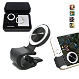 Mobile Joystick, Phone Game Rocker with Phone Ring Holder Touch Screen Joypad for iPhone/Smart Phones (White) Review