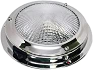 Pactrade Marine Boat Lens Accent Dome Light Stainless Steel with Toggle Switch