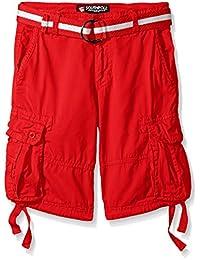 Southpole Boys' Belted Fine Twill Basic Cargo Short