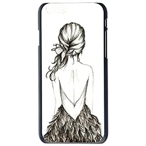 Backless Girl Drawing Pattern Back Case Cover For Apple iphone 6 4.7G Plus by Alexism Size1iphone 6 4.72