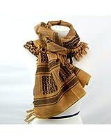 アフガンストール アラブストール  スカーフ  シュマグ  マフラー  Cotton 100% (タン)