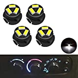 SMD AC Climate Heater Control LED Light Bulbs Kit Replacement for Dodge Ram 1500 2500 3500 2003-2008 T5/T4.7 Neo Wedge HVAC White Lights