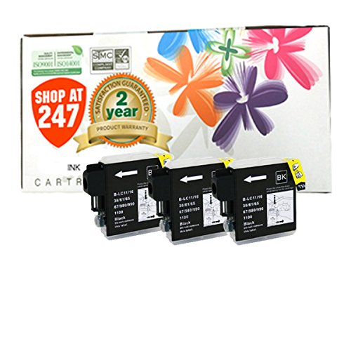 Shop At 247 ® Compatible Ink Cartridge Replacement for Brother High Yield LC65 (Black, 3-Pack)