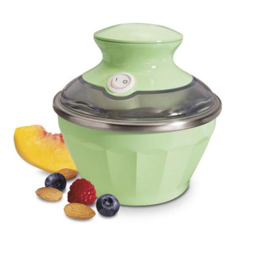 Hamilton Beach 68660 Half Pint Soft-Serve Ice Cream Maker,Green