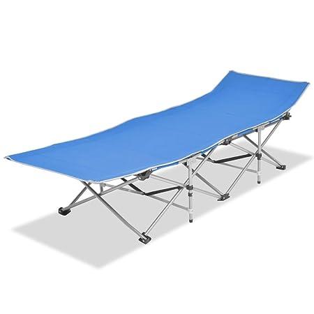 vidaXL Tumbona Plegable Azul 186x67,5x49 Silla Sofá Asiento Cama Jardín Patio: Amazon.es: Hogar