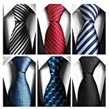 AVANTMEN Classic Men's Neckties 6 PCS Woven Jacquard Neck Ties (S3)