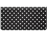 Snaptotes Small Polka Dot Black Design Checkbook Cover