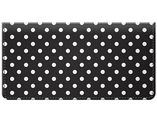 Snaptotes Small Polka Dot Black Design Checkbook Cover