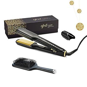 Alisador de pelo GHD Gold Classic + cepillo plano GHD + cinta dorada LOré