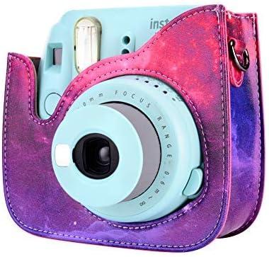 Goocor Kristall Kameratasche mit Verstellbarem Regenbogen Schultergurt und Objektivtuch f/ür Fujifilm Instax Mini 9 Mini 8 Instant Kamera Transparent Mini 8