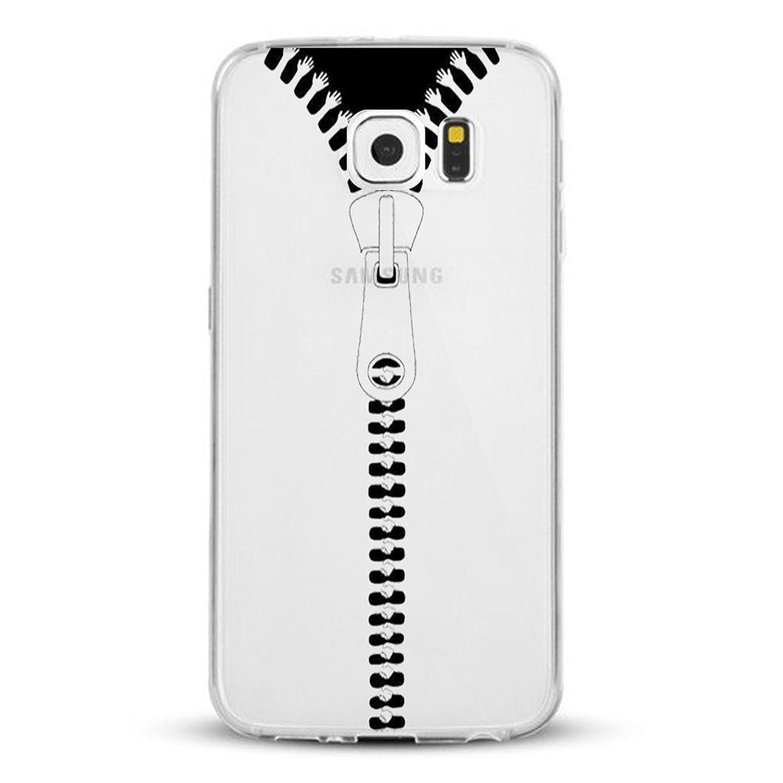 ( No para S6 Edge ) Samsung galaxy S6 Carcasa , Qissy® TPU flexible Silicona stripe raya Soft Case-rayaduras Piel transparente para Samsung galaxy S6