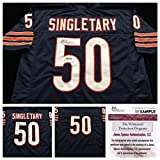 Mike Singletary Chicago Bears Signed Autograph Blue Jersey JSA COA