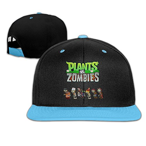 WYUZHEN Kid's Plants Vs. Zombies Custom Cool Hip-hop Snapback Hat Caps RoyalBlue (Hip Hop Harry Costume)