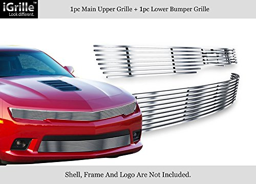 Billet Grille Package - APS For 2014-2015 Chevy Camaro LS/LT W/RS Package Phantom Style Billet Grille Combo #N19-C94216C