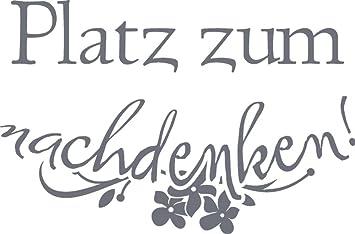 GRAZDesign 650107_50_071 Wandtattoo lustige Sprüche für Klodeckel |  Badezimmer-Tattoo an die Wand/Fliesen / Spiegel (76x50cm // 071 grau)