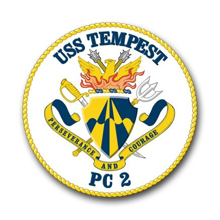 US Navy Ship USS Tempest PC-2 Decal Sticker 3.8