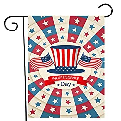 YJYdada Happy Independence Day Garden Flag Indoor Outdoor Home Decor Printing Flag 30X45cm (D)