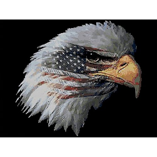 """Cody Country American Pride Cross 13""""X14.25"""" 14 Count Stitch Kit -  8152"""