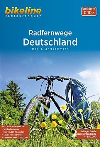 Deutschland Radfernwege Attraktivsten Radtouren Map 2014 Bike