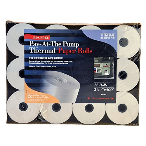 IBM Pay-at-the Pump Thermal Paper Rolls - 12 Count