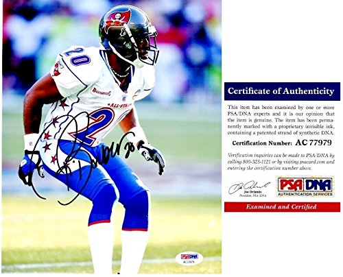 Ronde Barber Autographed Tampa Bay Buccaneers - Tampa Bay Bucs PRO BOWL 8x10 Photo - PSA/DNA Authentic (Autographed Barber Photo)