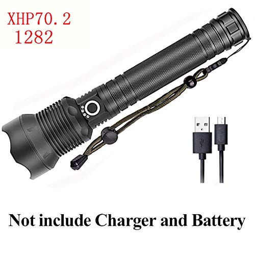 ight Rechargeable Torch Light 18650 26650 Battery,Option E ()