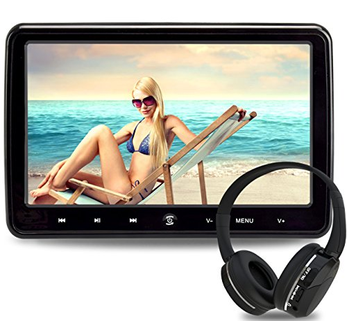 LOSKA 10.1 Inch Portable Ultra Thin HD Headrest DVD Player Car Multimedia (Rear Seat Video Display)