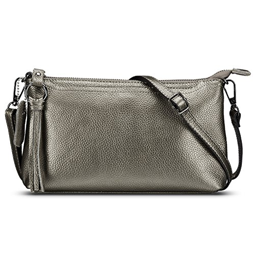 Silver Leather Bag - 9