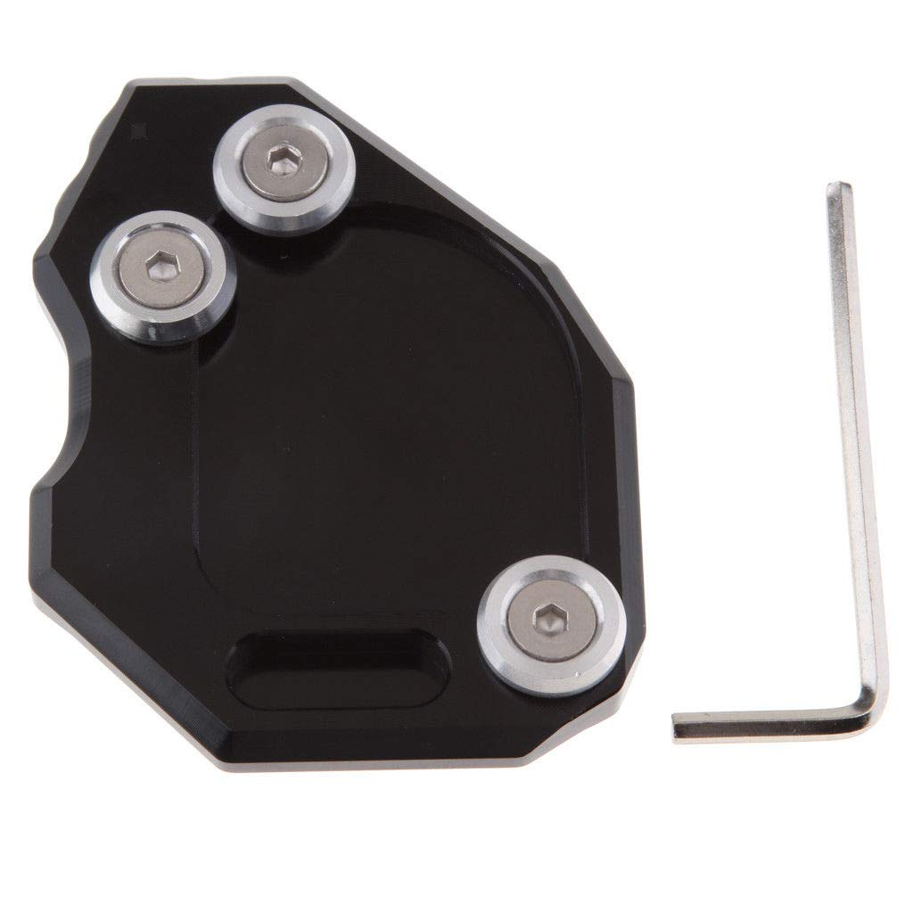 Motorcycle CNC Side Stand Kickstand Enlarge Plate Pad For BMW F650GS 07-14 Black